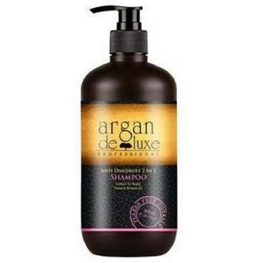Argan Deluxe Professional Anti Dandruff 2 IN 1 Shampoo, 300 mL/10.1 Oz