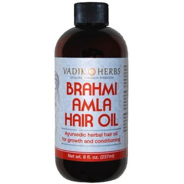 Brahmi Amla Hair Oil (8 Oz) Ayurvedic herbal hair growth oil & hair conditioning