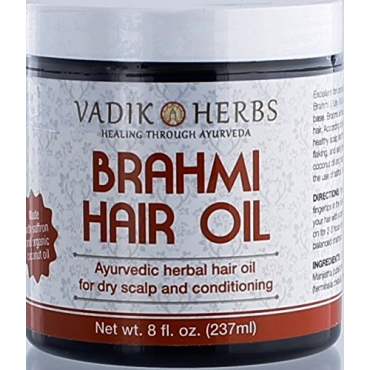 Brahmi Oil - Ayurvedic Hair Growth massage oil, 8 Ounces (237 ml)