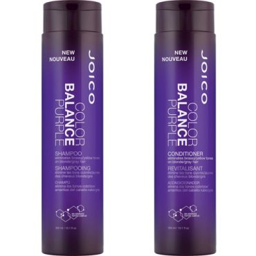 Joico Color Balance Purple Shampoo and Conditioner 10.1 Oz Combo, 2 Day Air FREE