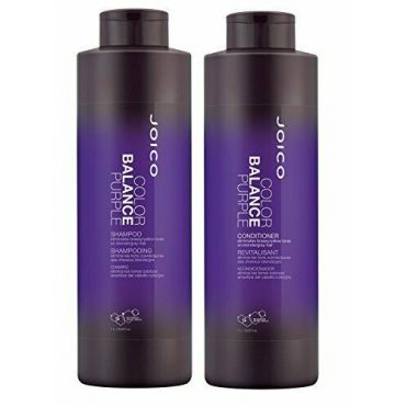 Joico Color Balance Purple Shampoo and Conditioner 33.8 Oz Duo, 2 Day Air Ship
