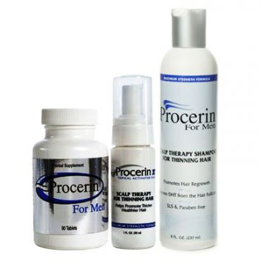 Procerin Hair Loss and Thinning Hair kit w/Shampoo, Vitamin, & Foam