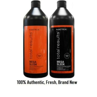 Matrix Total Results Mega Sleek Shampoo & Conditioner Liter Set Duo, 33.8 Oz.