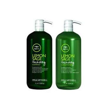 Paul Mitchell Lemon Sage Thickening Shampoo and Conditioner Liter Duo Set
