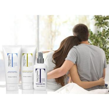 Tricomin Hair Loss Treatment Kit w/Spray, Shampoo and Conditioner